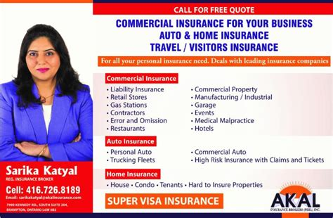 Auto Insurance Broker by Sarika Katyal Registered Insurance Broker Opening Hours