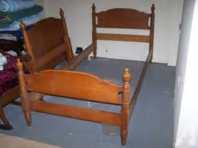 Vintage Wood Bed Frame Vintage Wood Size Bed Frames With Matching 4 Post