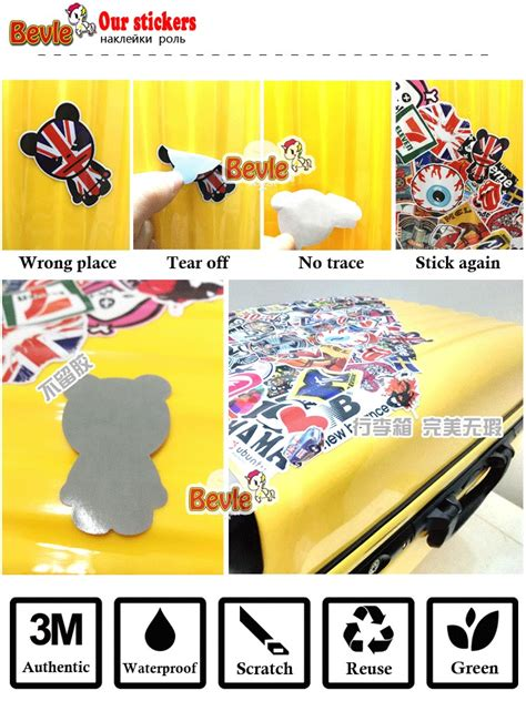 Label Nama Paket Mini Sticker Waterproof The 3 bevle 3276 zoo york label waterproof fashion cool notebook stickers laptop luggage fashion car