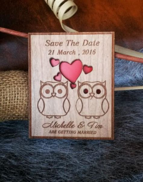 rustic wedding save the date magnets laser cut save the date magnets 10 engraved save the