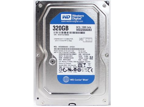 Harddisk 320gb Sata storage drives western digital drives