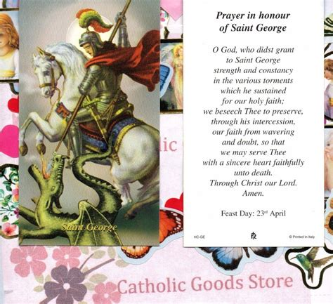 st george with prayer in honour of st george paperstock
