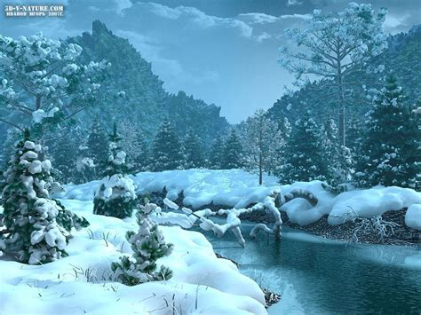 wallpaper 3d winter winter desktop wallpapers free wallpaper and screensaver