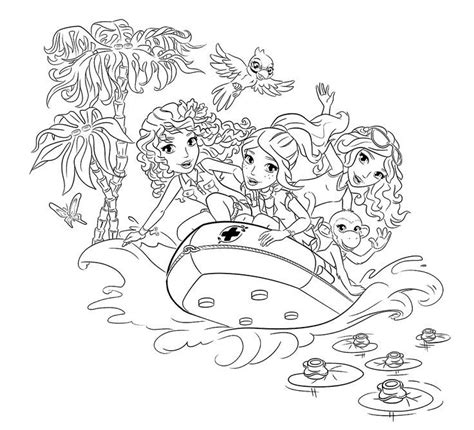 coloring page lego friends lego friends coloring pages coloring home