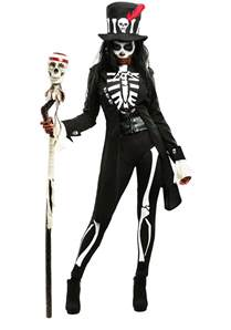 Skeleton Costumes Women S Plus Size Voodoo Skeleton Costume