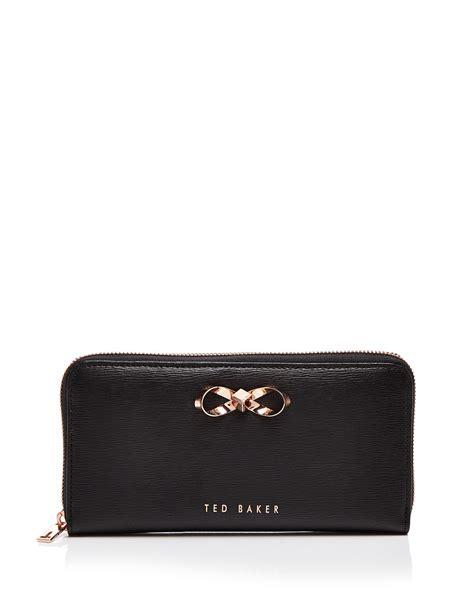 ted baker freesia zip around matinee wallet in black lyst