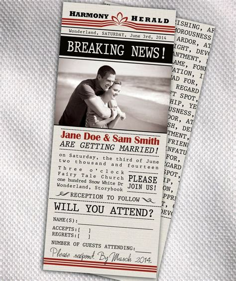 Wedding Newspaper Template by Wedding Invitation Wording Wedding Invitation Newspaper Template