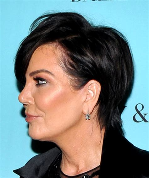 kris jenner hair colour kris jenner short straight casual shag hairstyle with