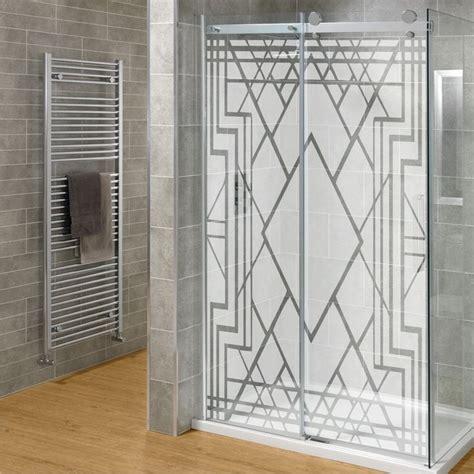 Etched Glass Shower Doors by Diy Etched Glass Shower Door Set Deco
