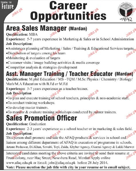 area sales manager assistant manager opportunity 2017 2018 pakistan jobz pk