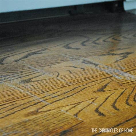 Repair Scratch Hardwood Floor Fix Scratched Hardwood Floors In About Five Minutes The Chronicles Of Home