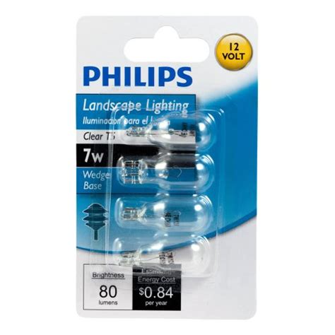 Philips Landscape Light Bulbs Philips 416957 Landscape Lighting 7 Watt T5 12 Volt Wedge Base Light Bulb New Ebay