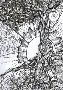 quot tree of quot pen and ink colouring book series 2012 projects to try