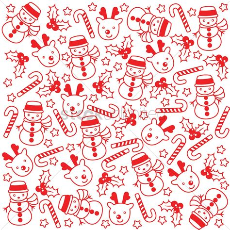 free holiday pattern background christmas pattern background vector image 1580468