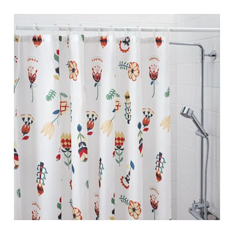 floral curtains ikea rosenfibbla shower curtain white floral pattern 180x180 cm