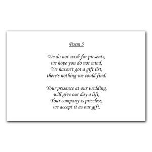 poems about gifts wedding poem cards the card gallery news