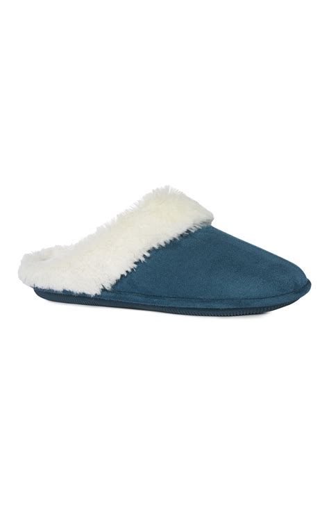 primark slippers an extraordinary teal memory foam mule slipper from primark
