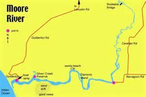 australia river map canoeing in western australia river