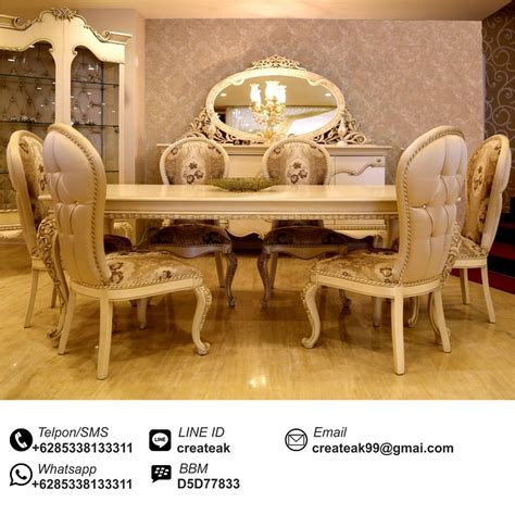 Meja Kursi Warung Makan set kursi makan maharani createak furniture createak