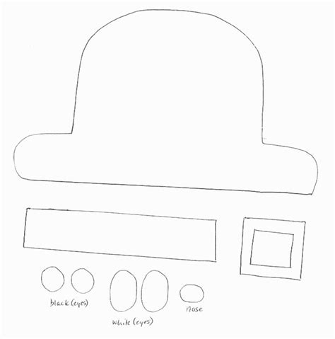 leprechaun hat template printable paper crafts templates st patricks day crafts print