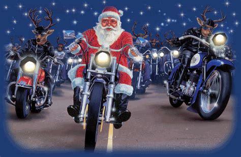 motorcycles harley davidson santa claus reindeer merry