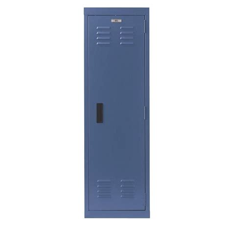 Home decorators collection academia single tier metal locker in sapphire 7396100310 the home depot