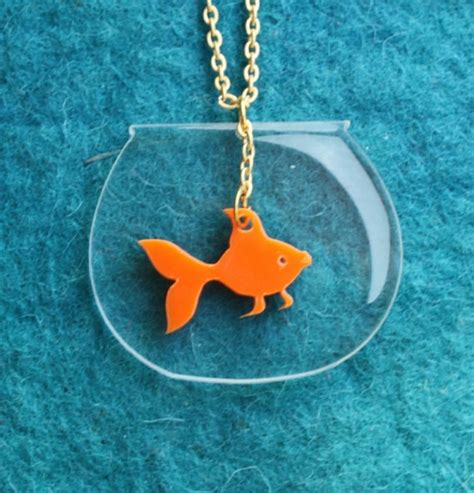 how to make laser cut acrylic jewelry goldfish necklace plexiglassjewelry lasercut acrylic gifts