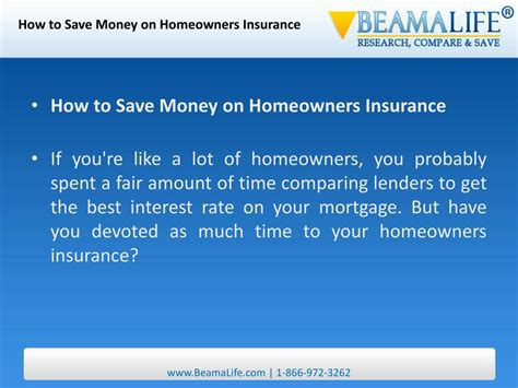 PPT - How to Save Money on Homeowners Insurance PowerPoint ...