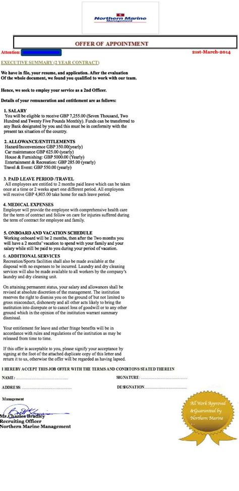 Appointment Letter Là Gì Timo Agencia De Embarque Suplantada Bit 225 Cora Webmar