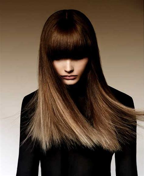 images of ombre hairstyles with fringes 25 hairstyles with long bangs hairstyles haircuts 2016