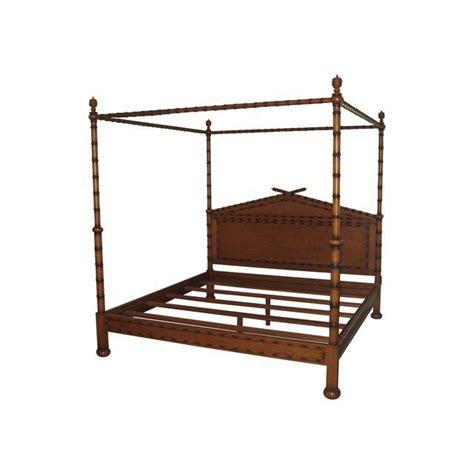 julia gray ltd faux bamboo canopy bed chairish