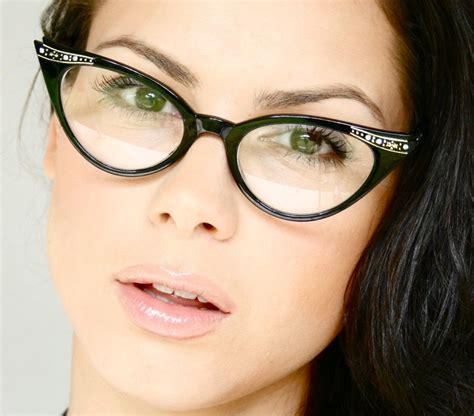 Cat Eye Lens Glasses vintage retro cat eye clear lenses womens eye glasses ebay