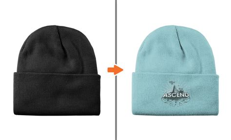 Photoshop Hat Mockup Template Pack Beanie Hat Design Template