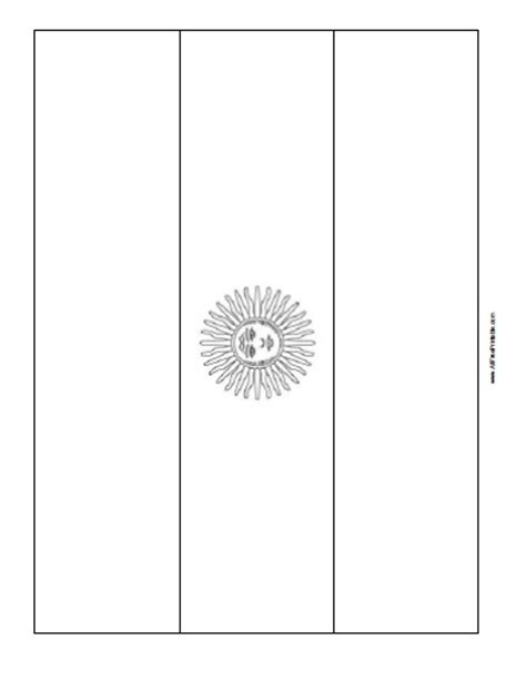 argentina flag coloring page free printable