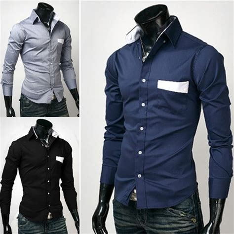 Mens fashion clothing stylish mens shirts mens cheap shirts long
