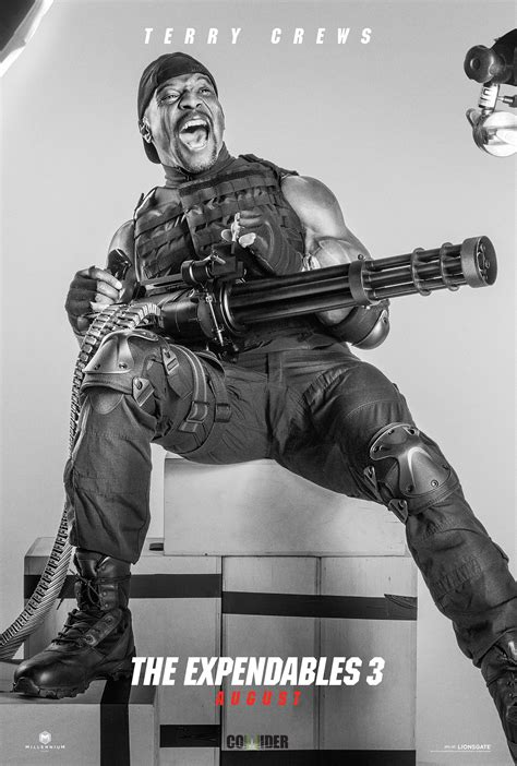 terry crews expendables the expendables 3 posters featuring harrison ford terry