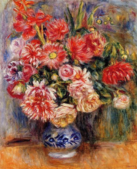 Famous Paintings Of Flowers In Vases Bouquet 1913 Pierre Auguste Renoir Wikiart Org