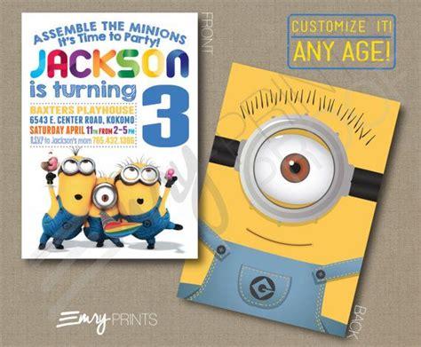 invite christmas minion minions birthday invitation digital printable custom despicable me invitation personalized