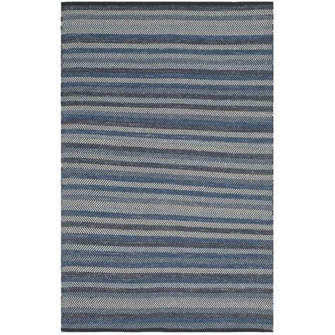 striped blue rug safavieh striped kilim blue contemporary rug 4 x 6 stk421a 4