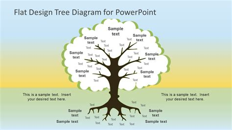 tree diagram template powerpoint tree flat design roots tree powerpoint diagram slidemodel