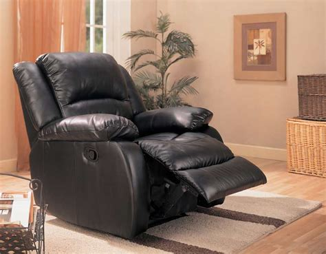black rocker recliner chair black leatherette rocker recliner co 248 recliners