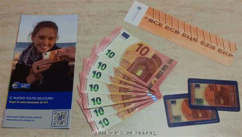 banca d europa europa presentazione nuova banconota da 10 serie