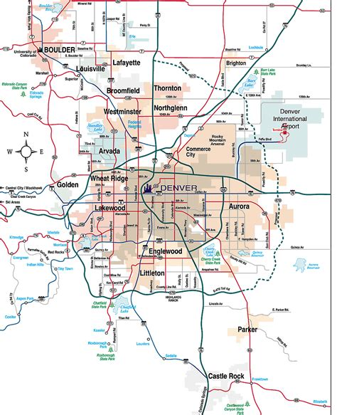 Denver Metro Area Map by Jan Watson Re Max 3000 Inc 303 614 7103