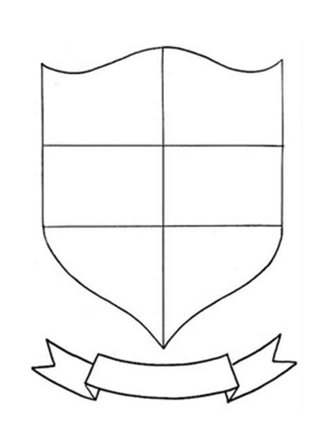 coat of arms template for students family crest coat of arms directions rubric shield