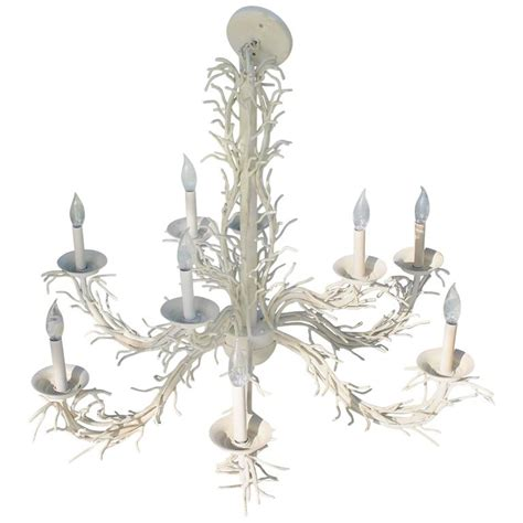 Coral Shell Chandelier Palm Beach Nine Light Shades Metal Shell Chandeliers For Sale