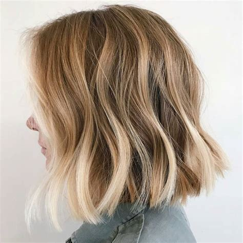 lob hair cuts for fine hair wavy lob hair styles color styling trends right now