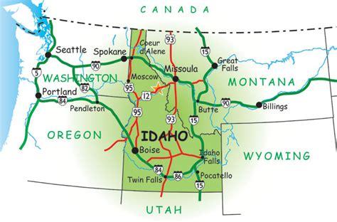 idaho montana map washington idaho montana map map