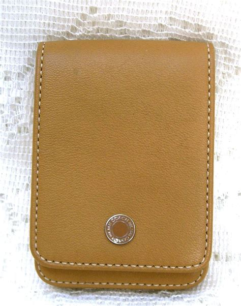 Coach Gift Card - coach leather credit card business card gift card holder tan other