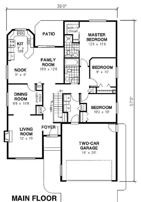design for rectangular plot house plan 98806 at familyhomeplans com