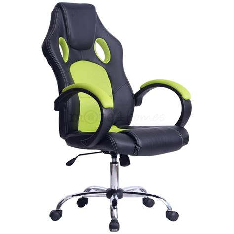 prix sport racing car office chair faux leather mesh